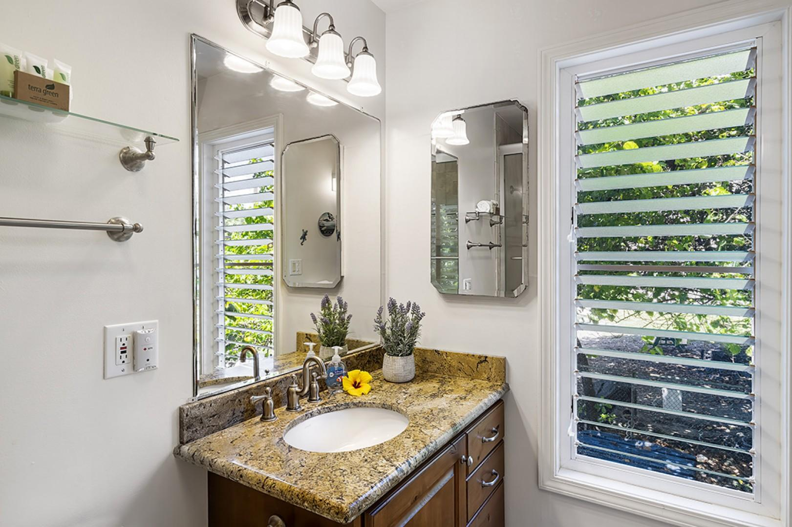 Master bathroom with upgraded touches