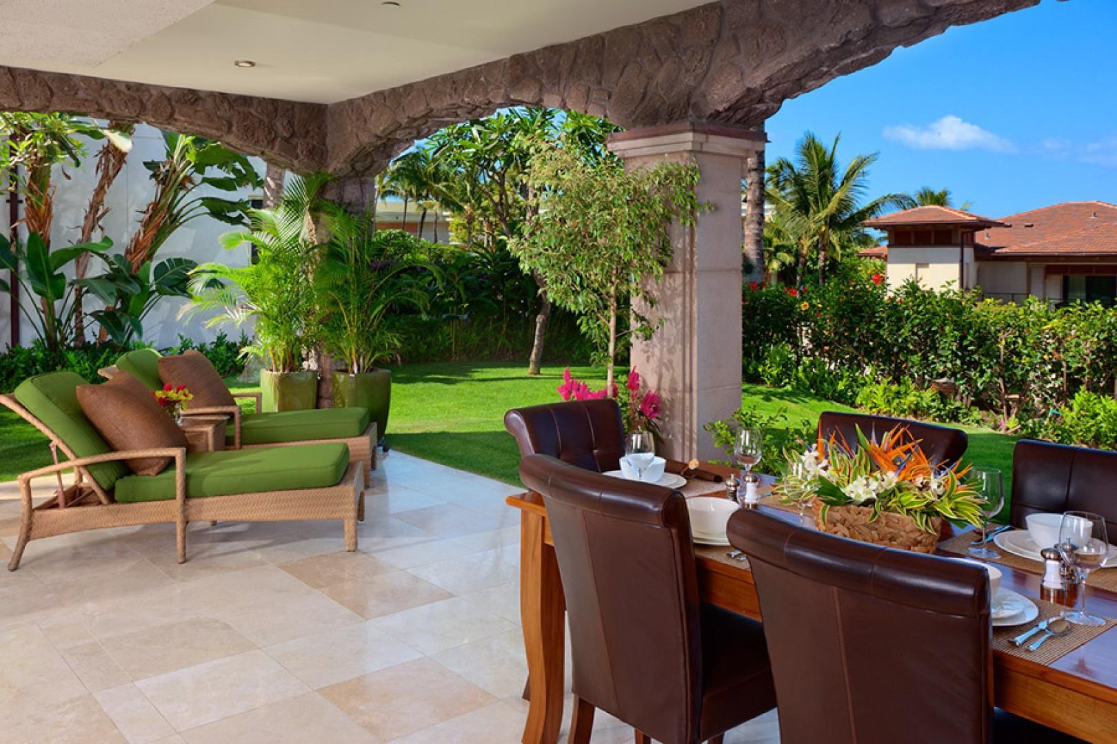 Unwind in your outdoor living space.