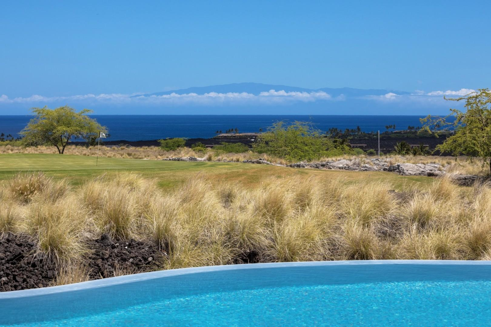 View of Maui across the channel from your private yard.