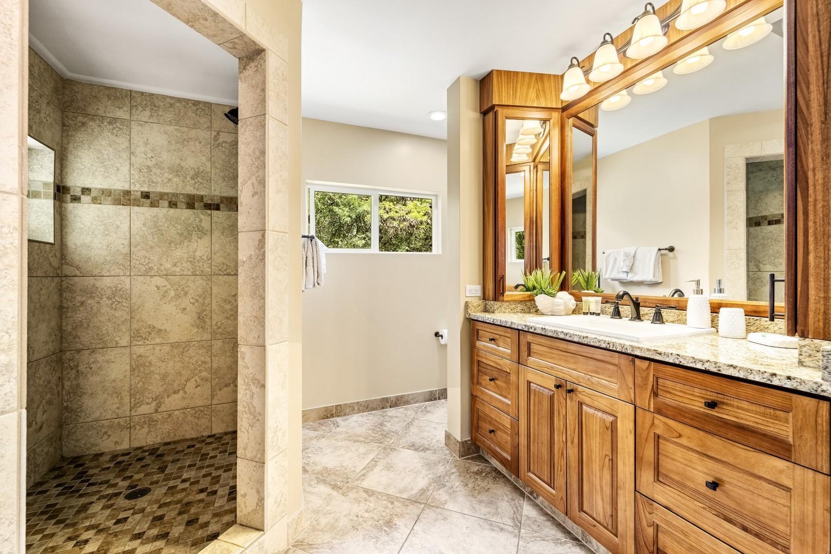 Master bathroom with walk in shower!