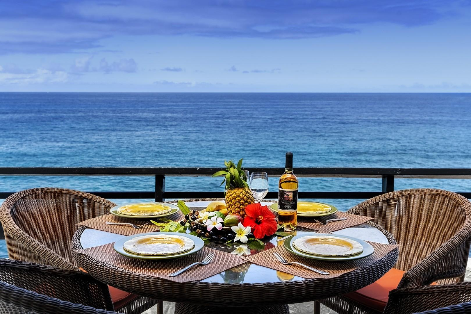 Imagine meals with this view!