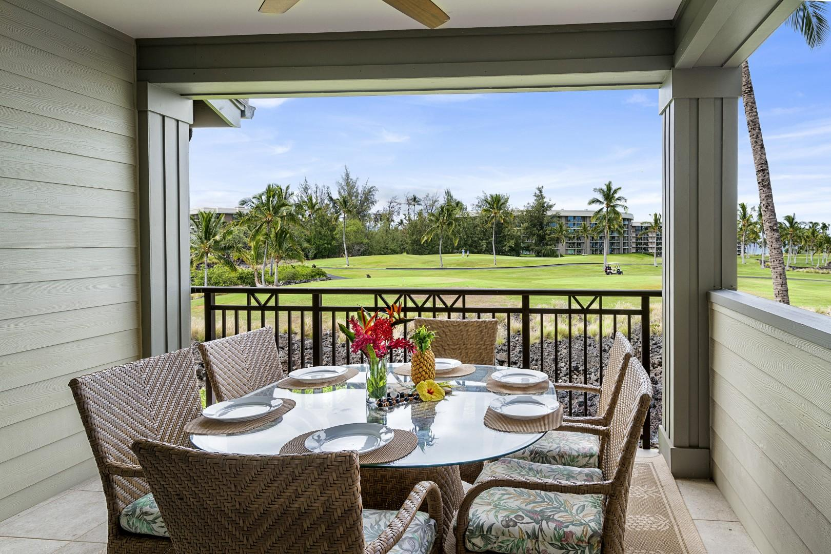 Outdoor Lanai dining for 6!