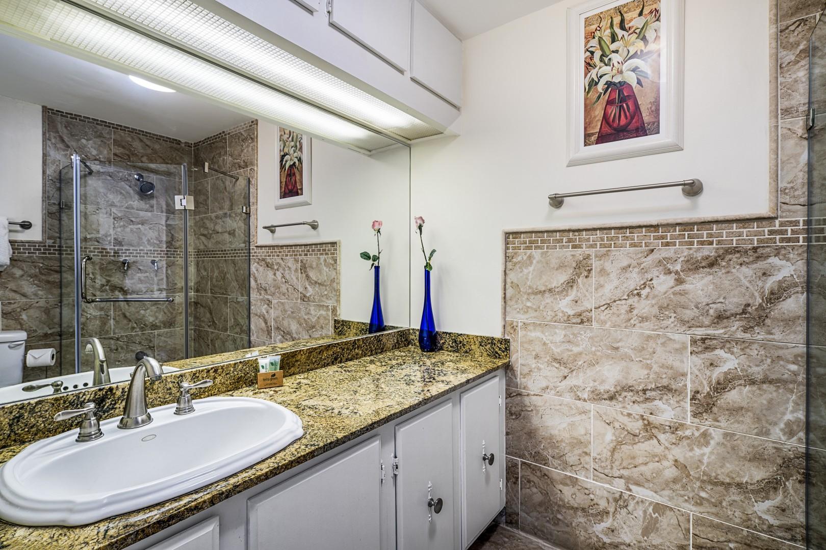 Upstairs master bathroom.