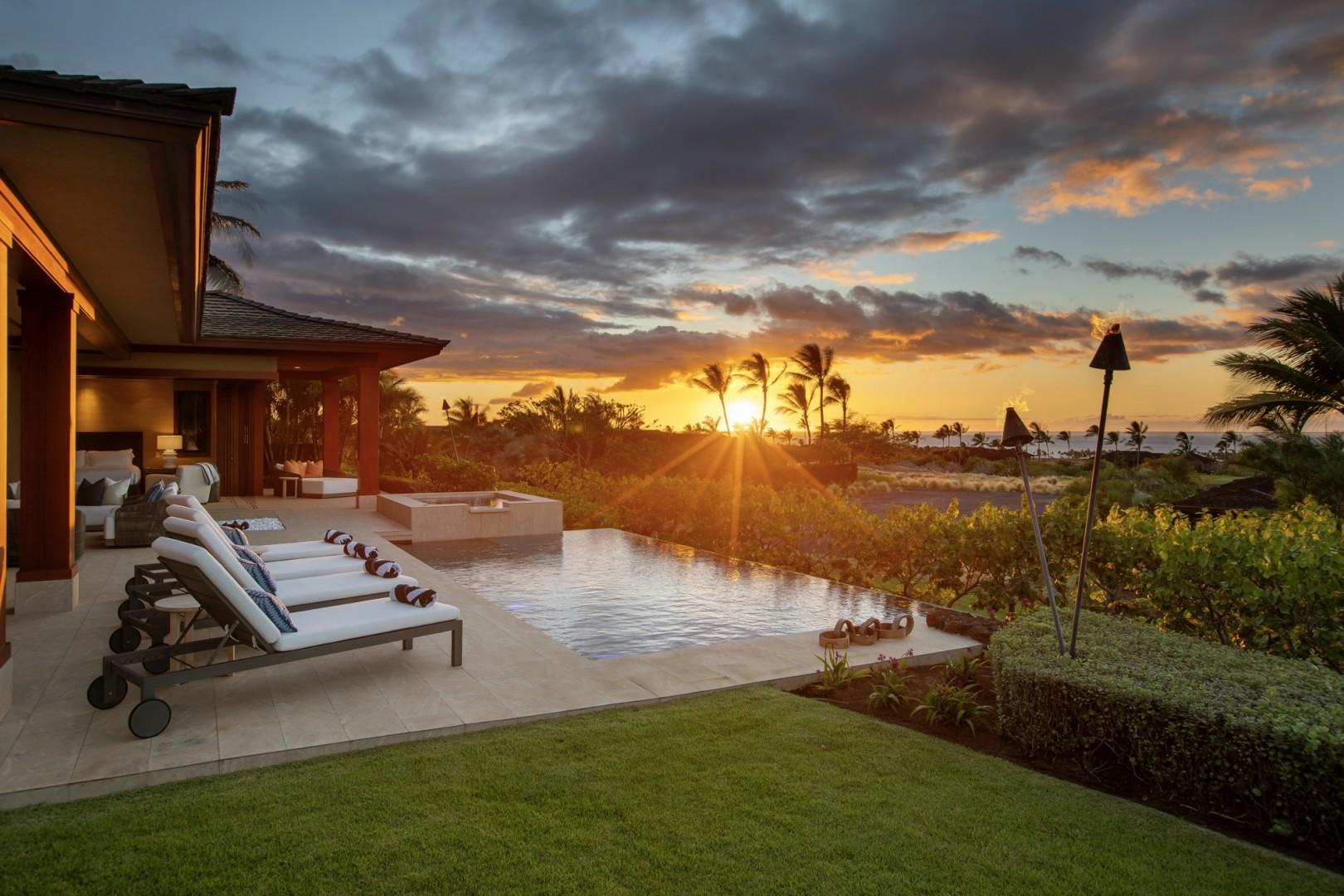 Epic year round sunsets, panoramic coastline views and beautiful tropical landscaping.