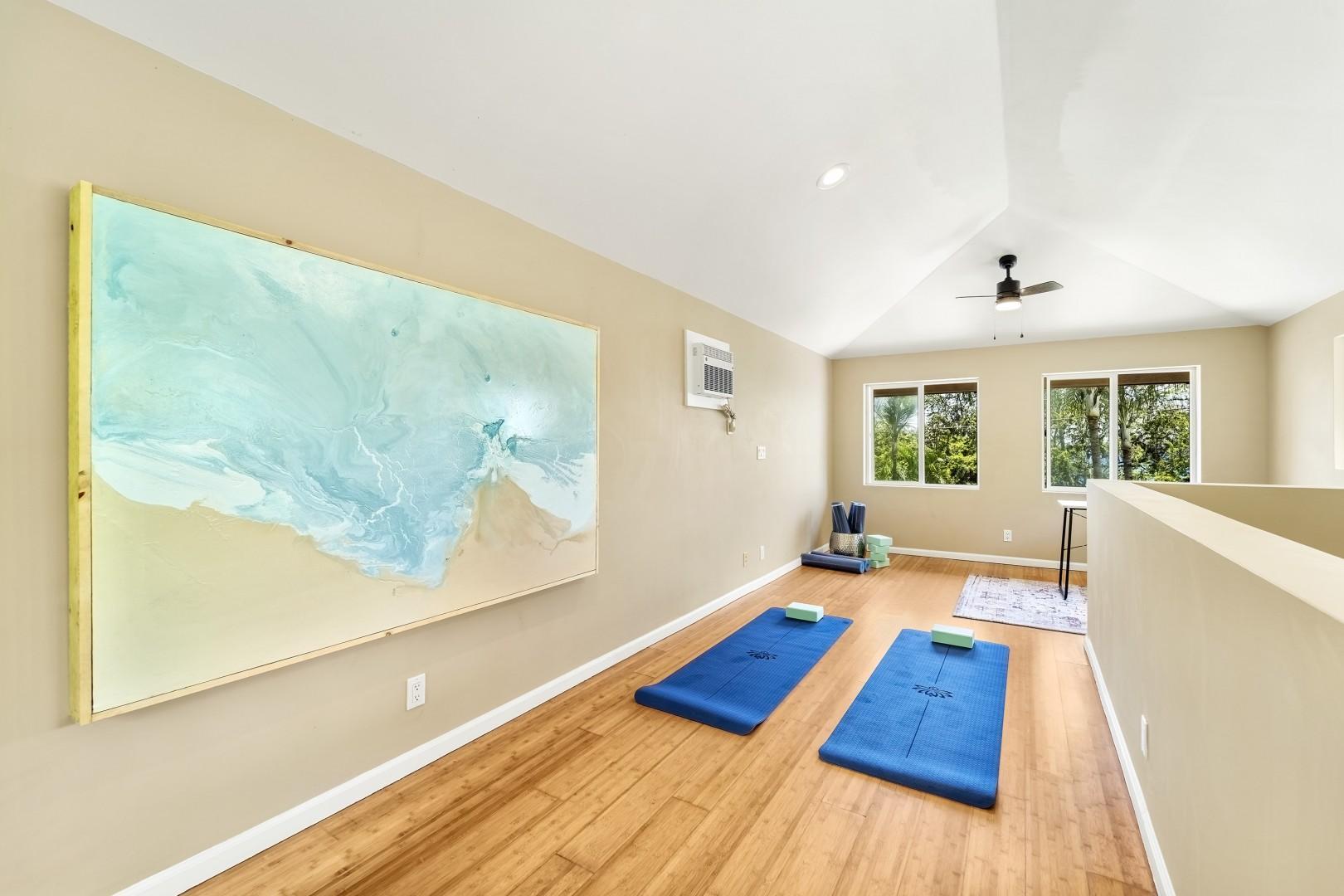 Yoga retreat on the third floor!