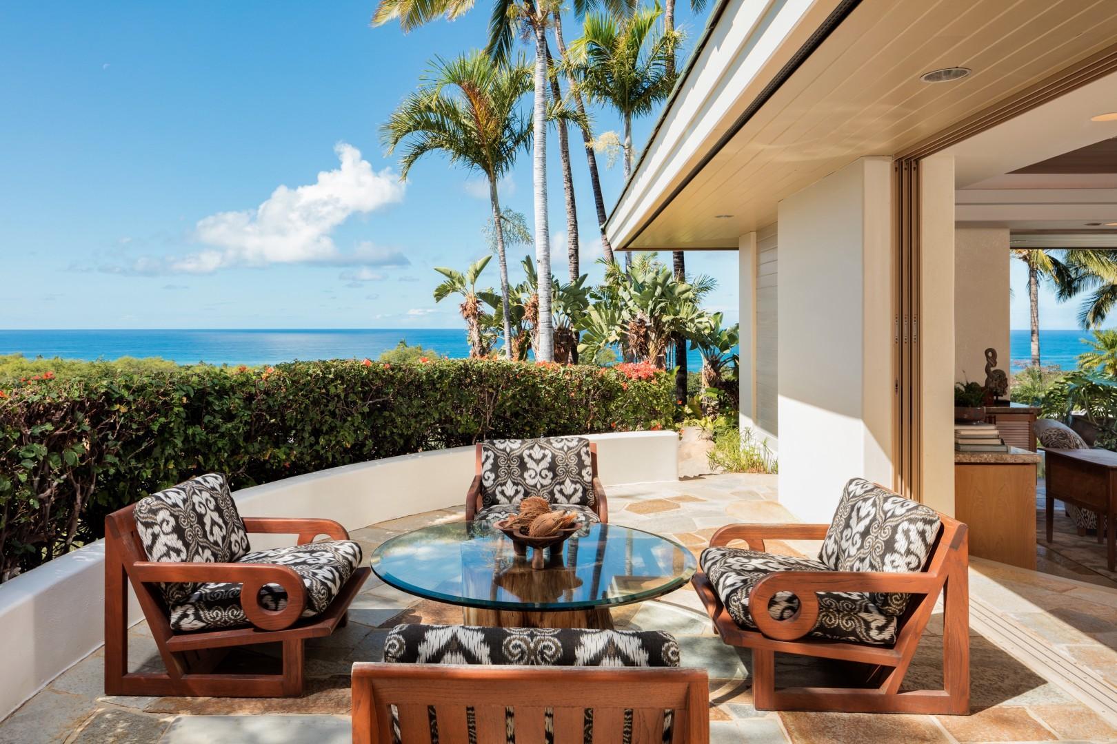 Ocean-view private master suite deck.
