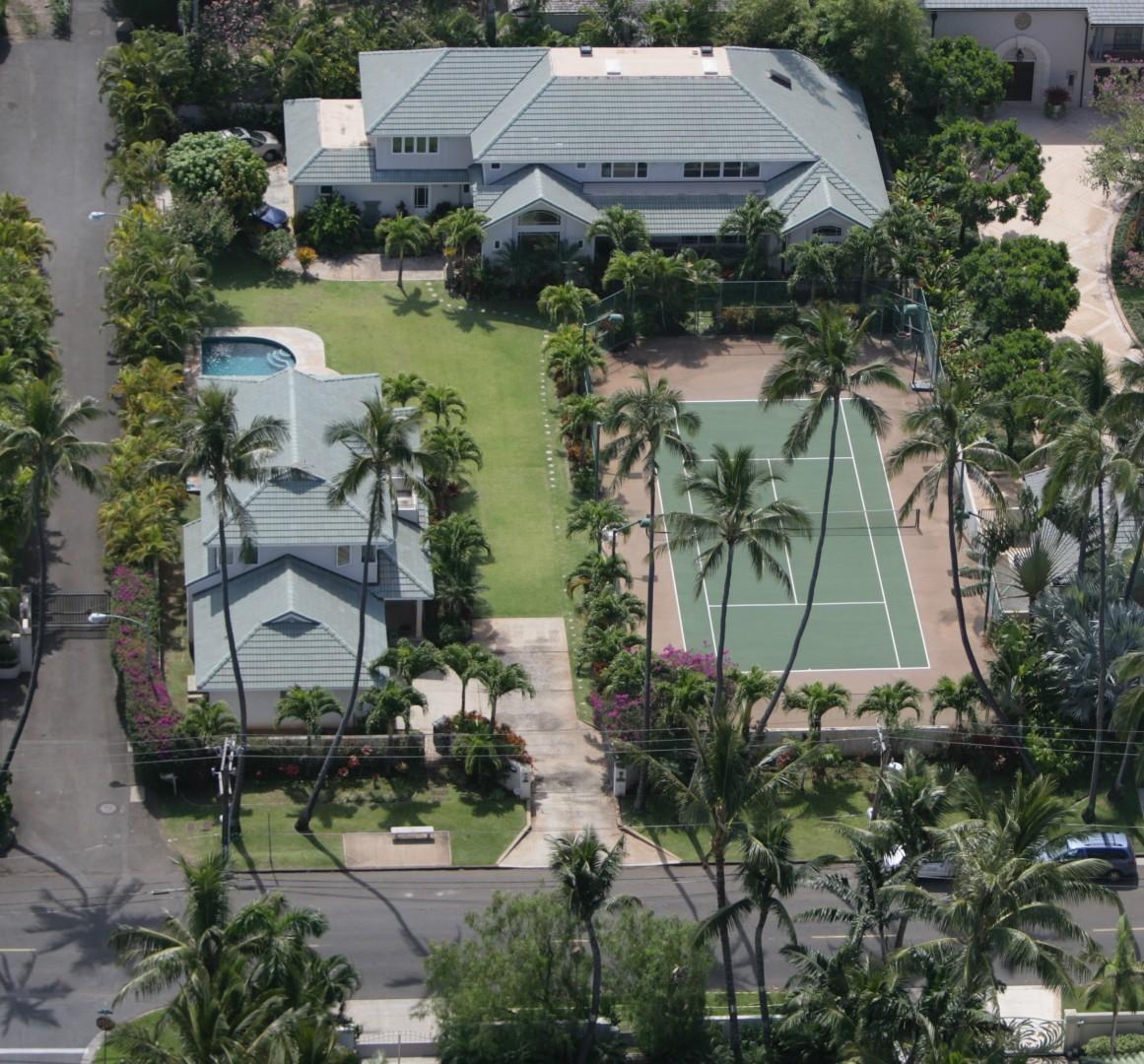 Aerial Shot of the Kahala Estate