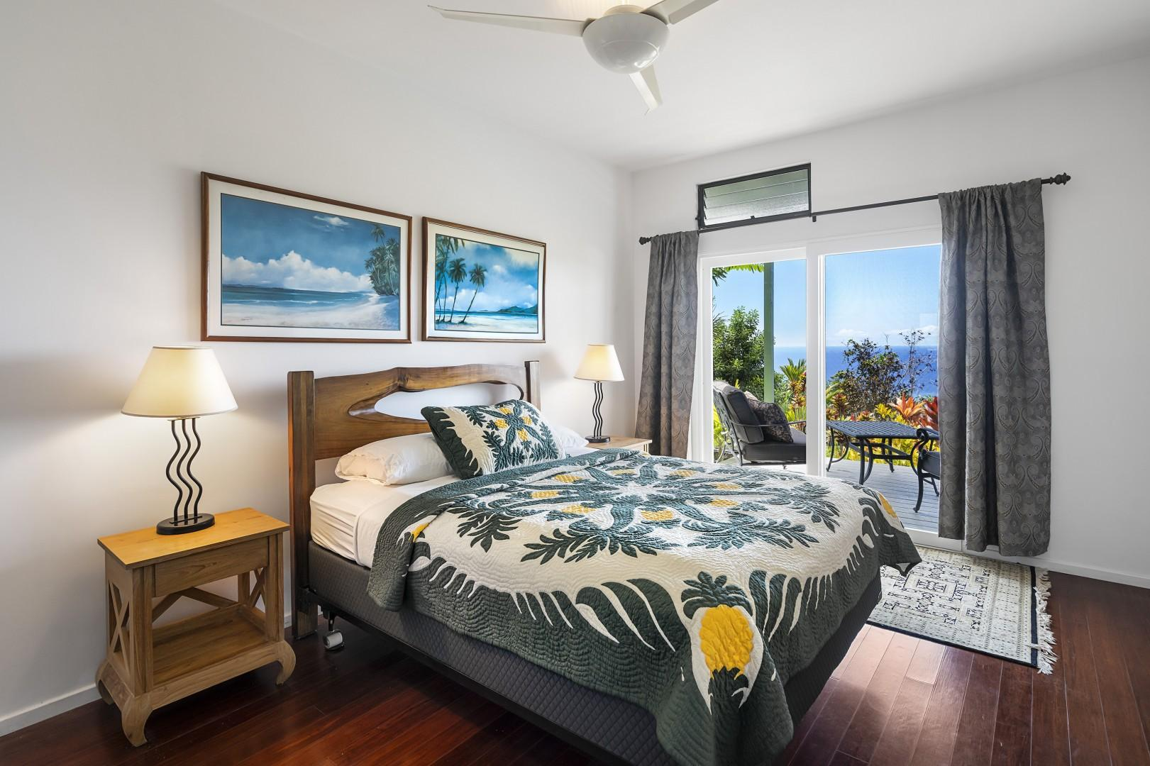 Second guest bedroom with Lanai access and outdoor shower!