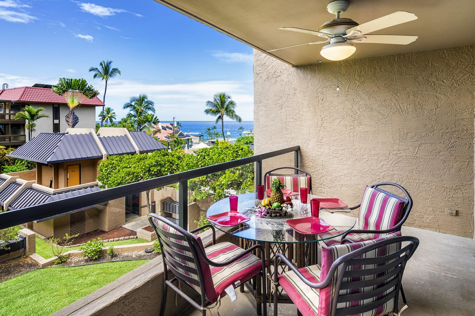 Additionally outdoor Lanai dining