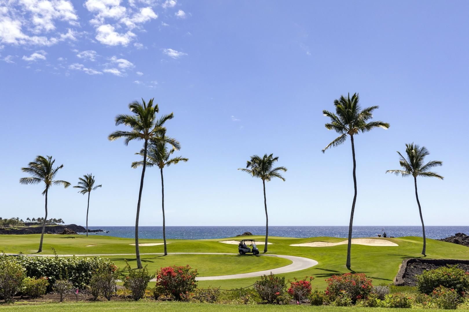Views of the 13th fairway and ocean.
