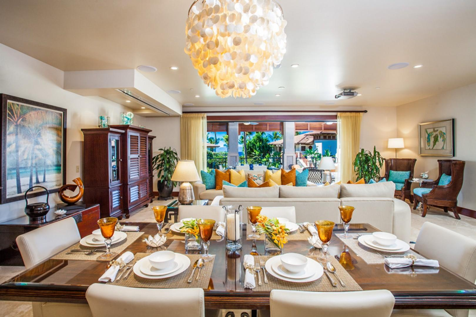 Castaway Cove C201 - Spacious Ocean View Great Room and Dining with Entertainment Center and Alfresco Terrace