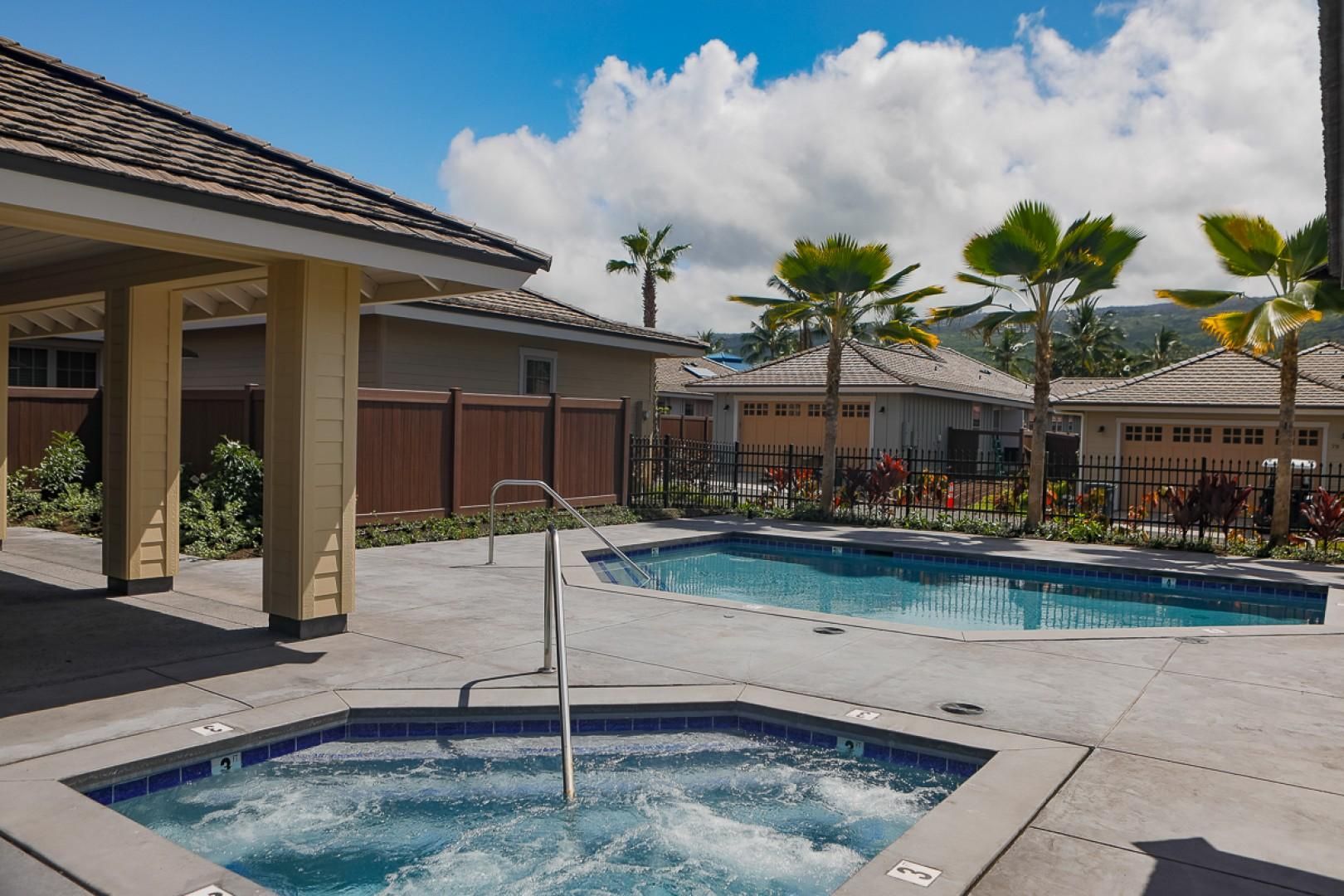 Holua Kai Community Pool is steps away from front door