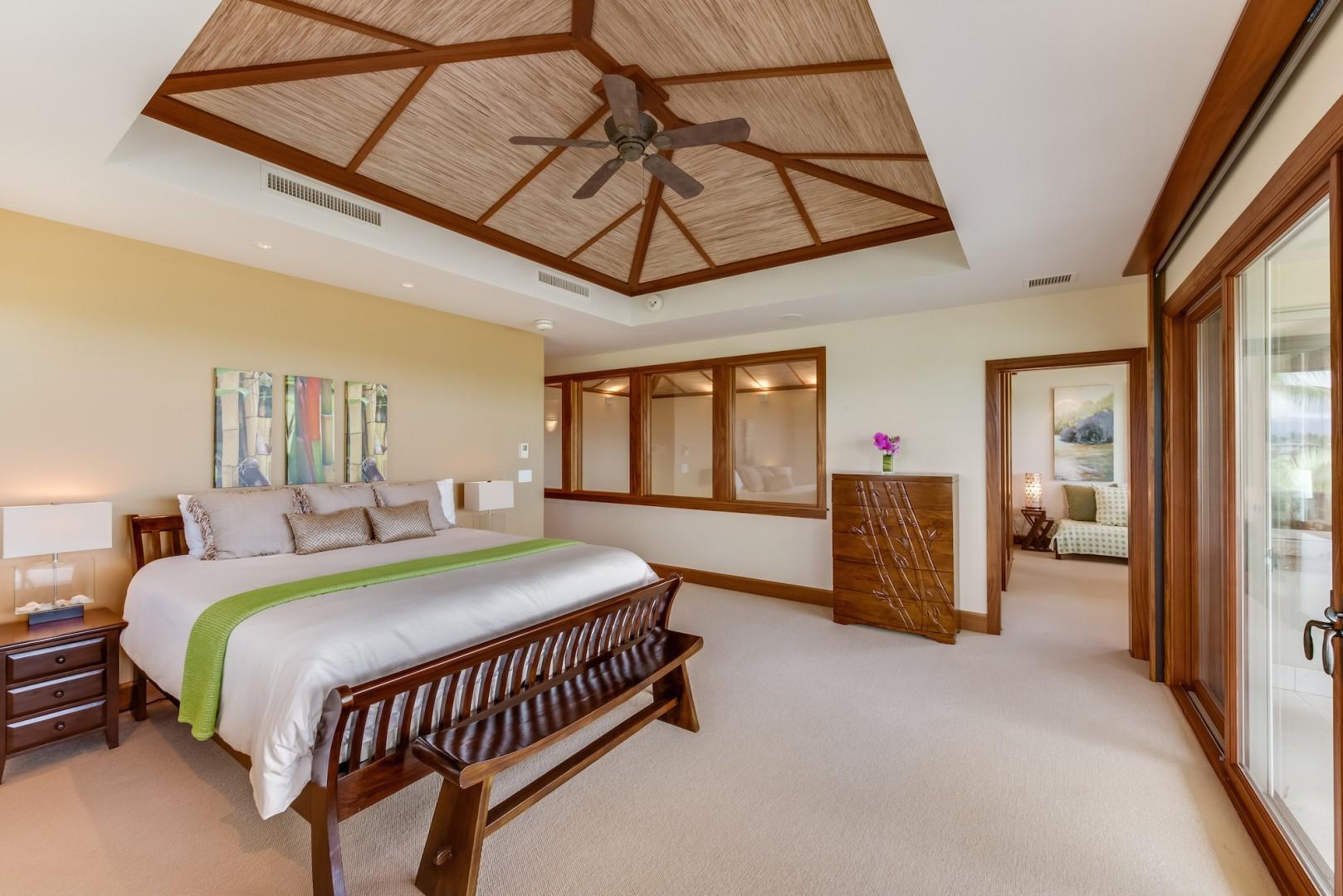 Alternate View of Spacious & Elegant Upstairs Master Bedroom Looking Toward Office