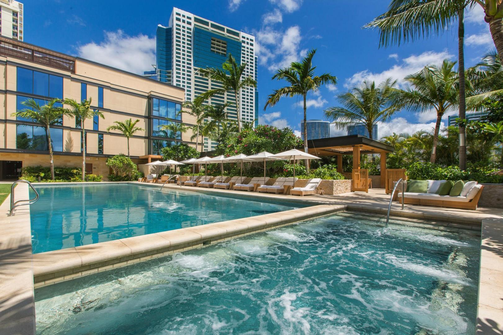 Shared Jacuzzi and Pool