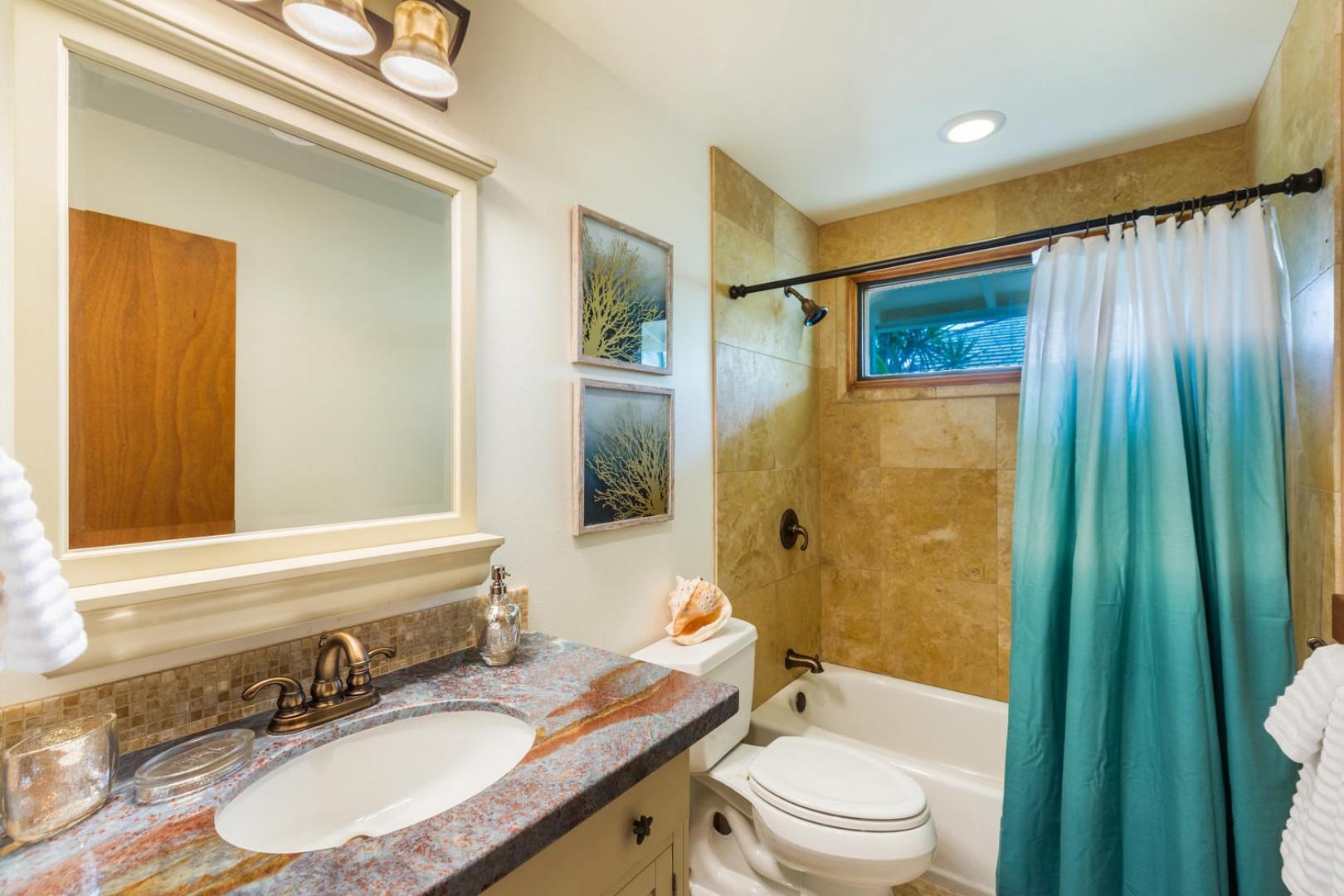 Twin bedroom's bathroom.