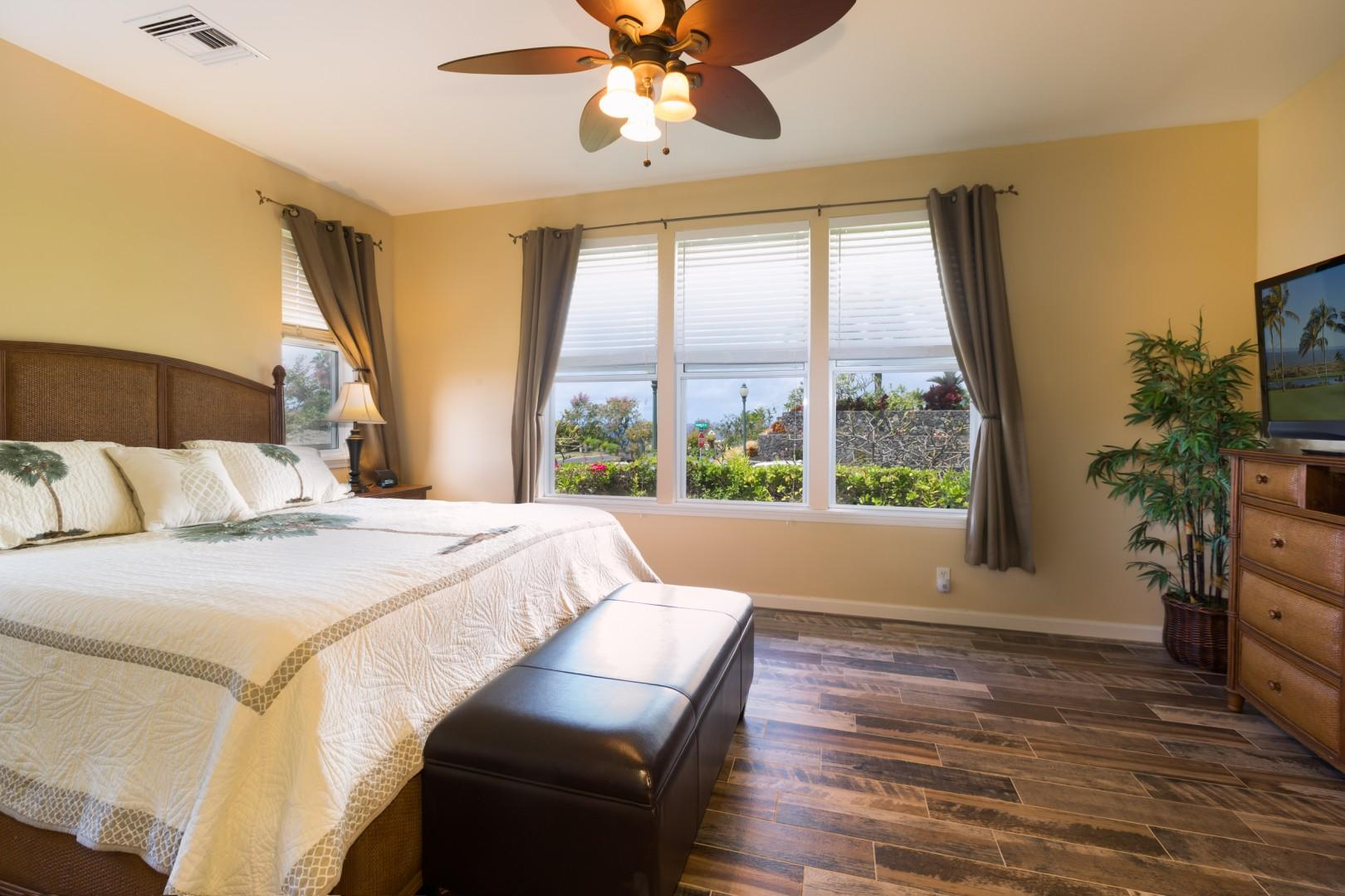 Bright Master Bedroom with Views