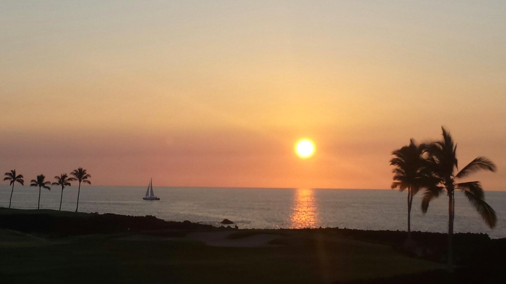 Sunset from your master lanai.