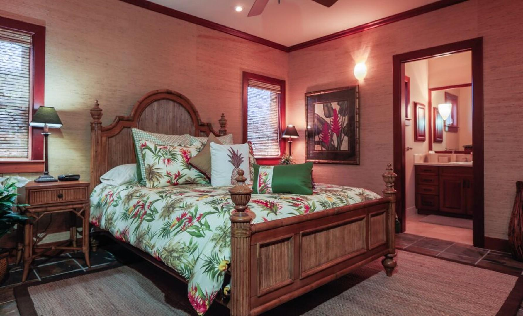 Second master bedroom with comfortable queen bed