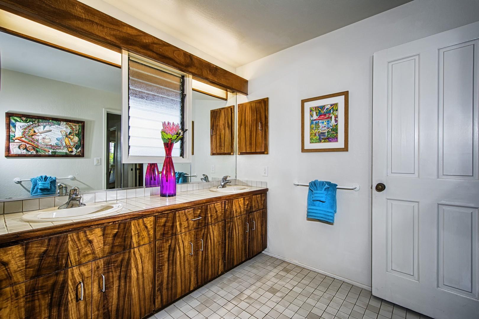 Master bathroom with dual vanities!
