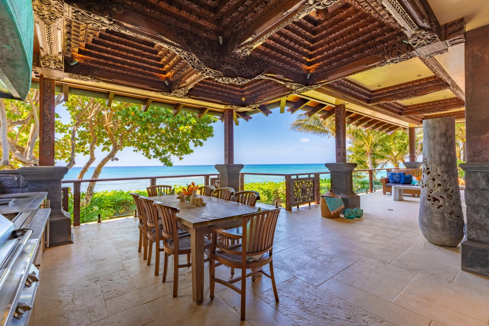 Oceanfront lanai w/BBQ and your own Beer Keg on Tap