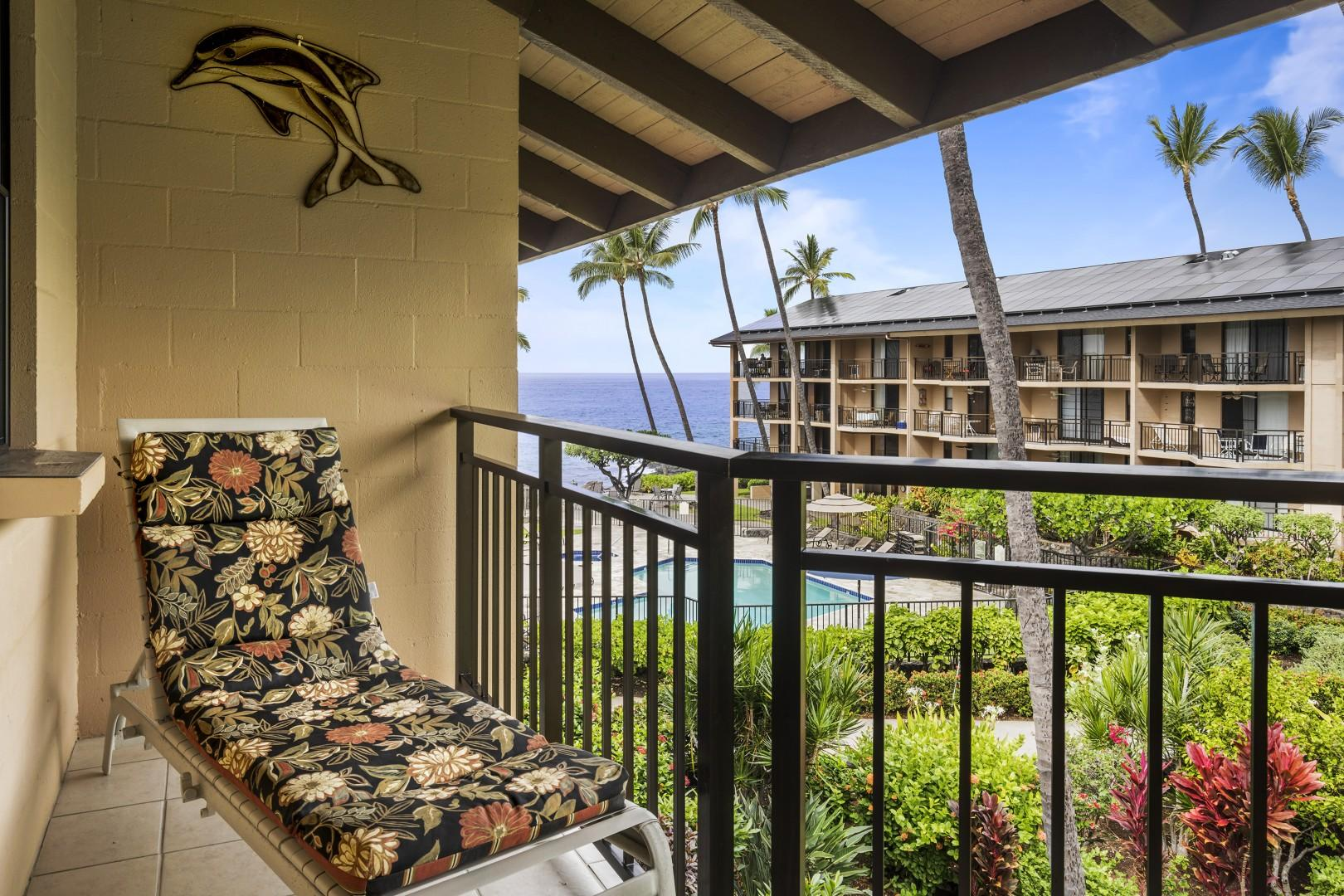 Lounge on the Lanai just steps from the unit