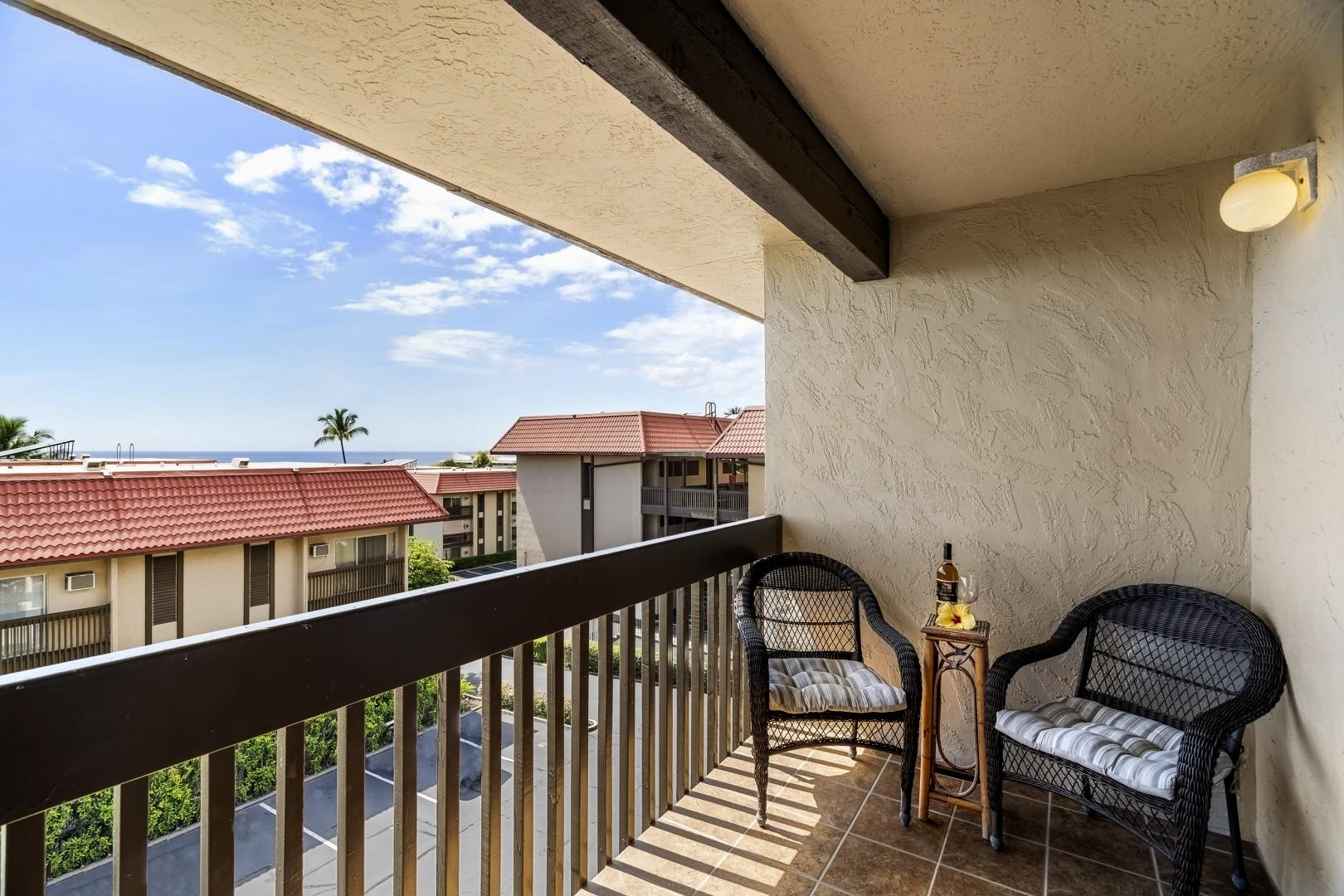 Private seating on the Master Lanai