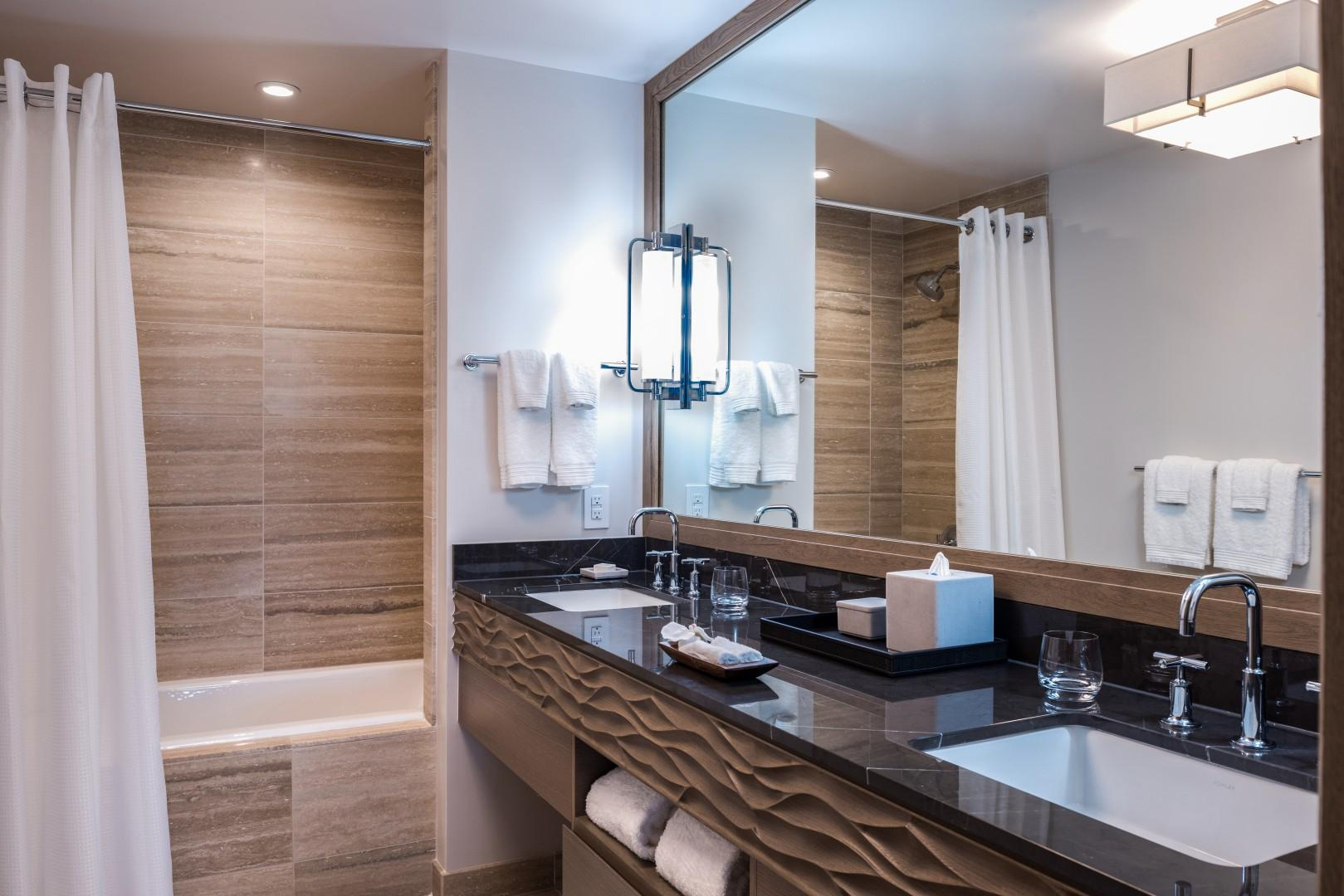 For total guest comfort and privacy, the third bedroom also has its own full bath.