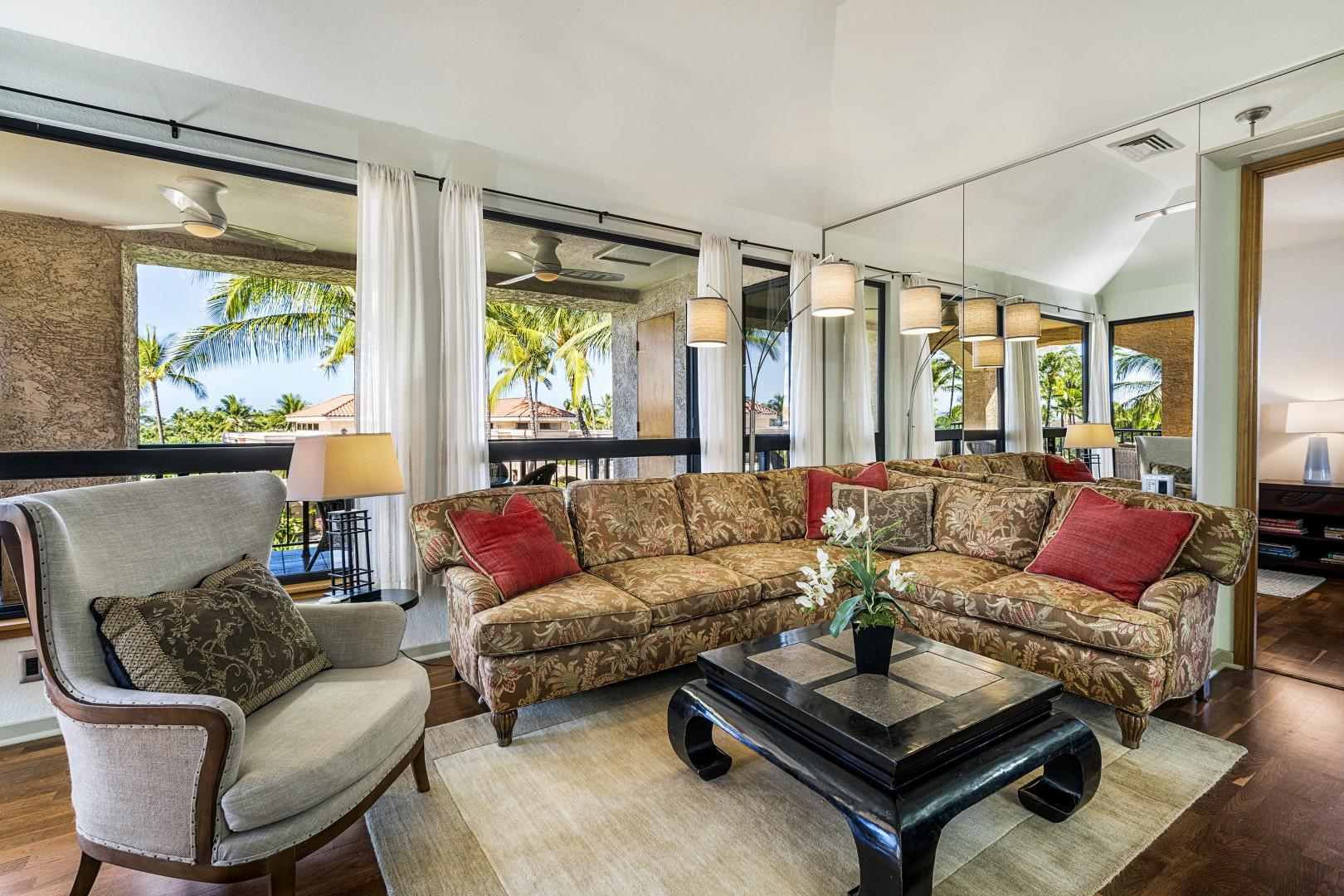 Ample seating with space to entertain or simply watch TV