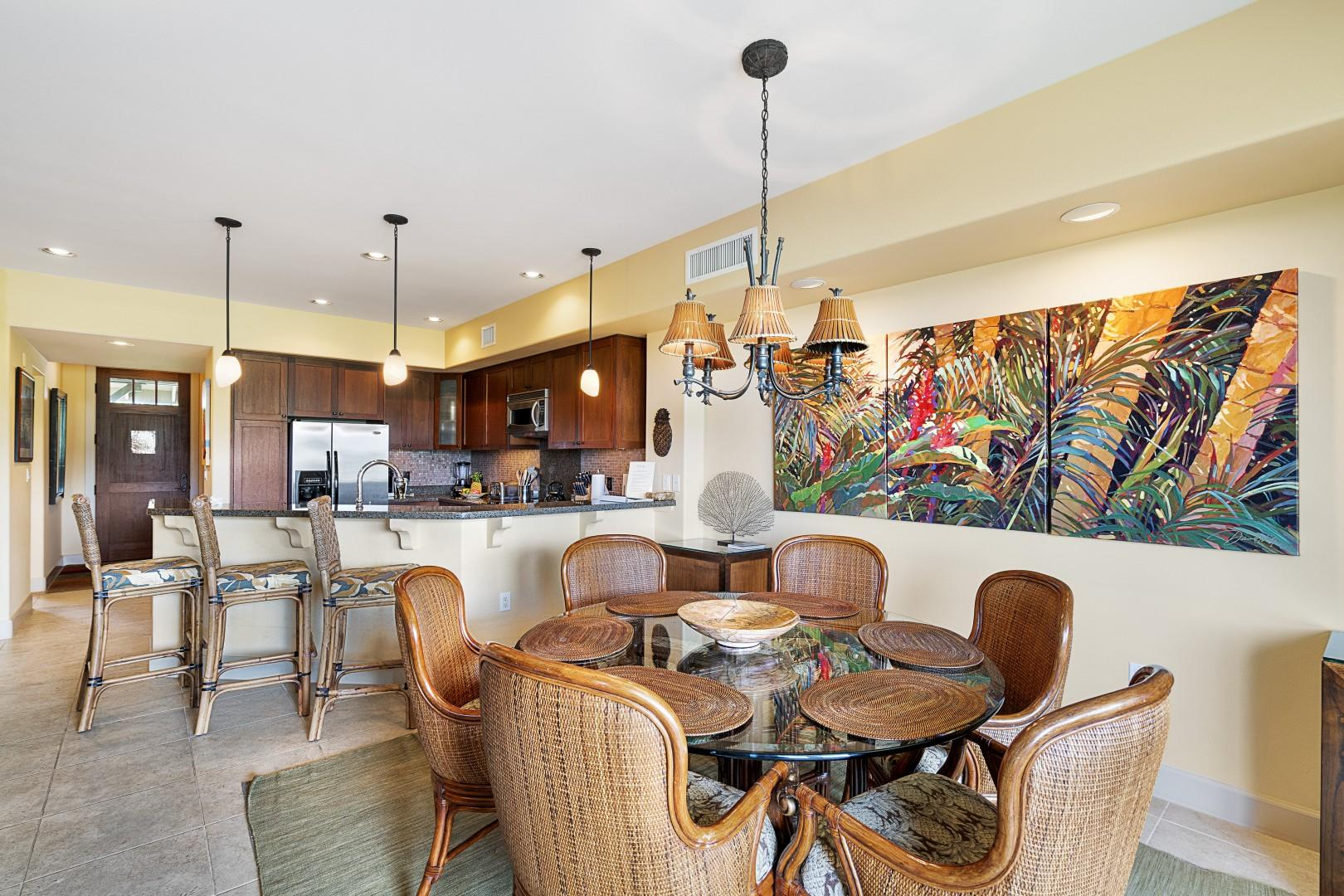 Luxuriously appointed indoor dining!