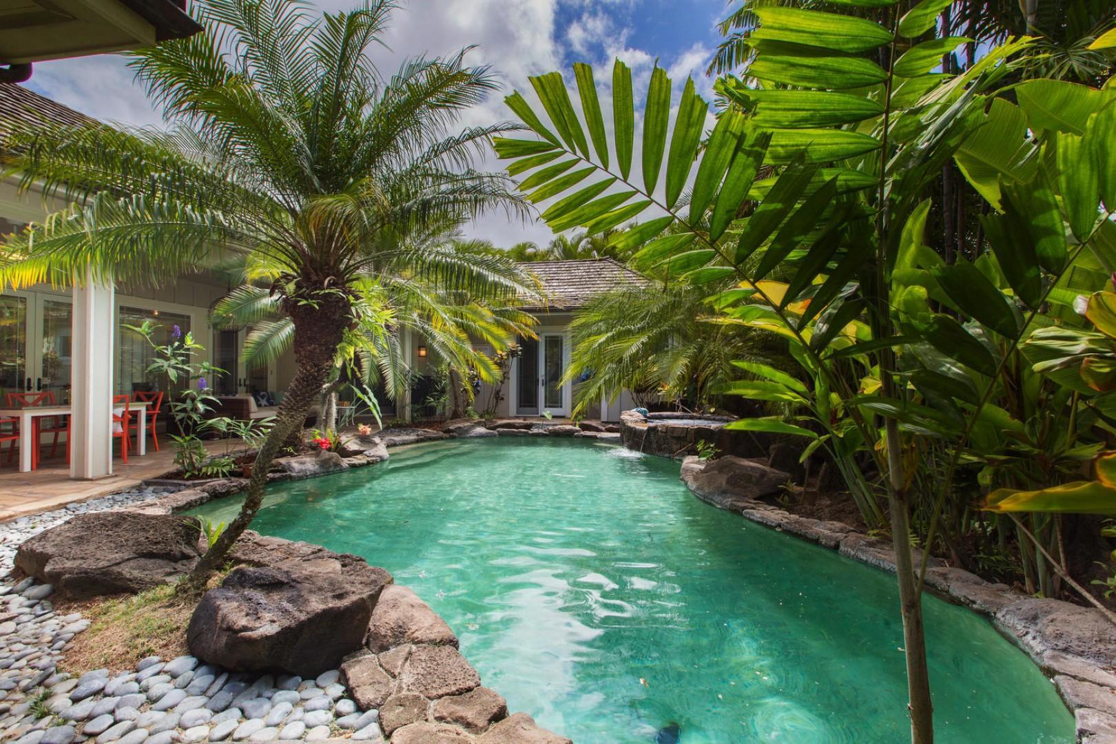 Pool courtyard.