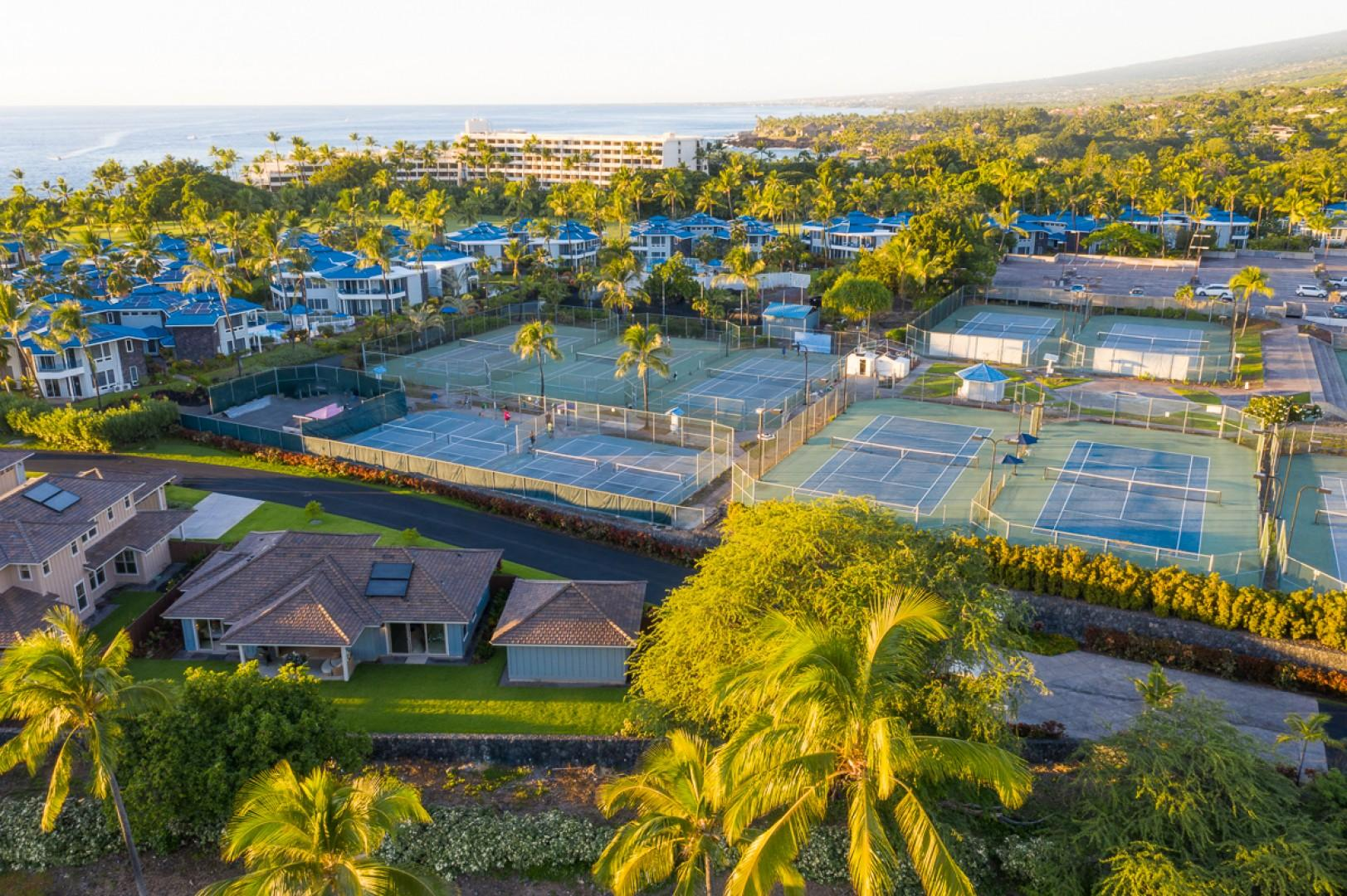 Holua Kai #1 very close to Holua Tennis and Pickel Ball Center extra fee to play but tons of fun