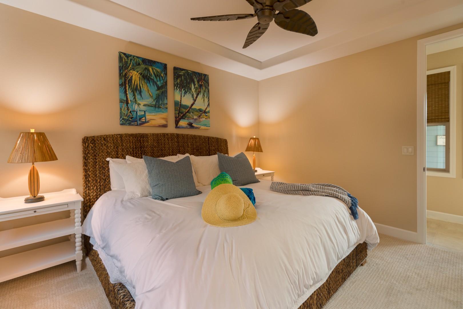 Bedroom three also has a private en suite bath