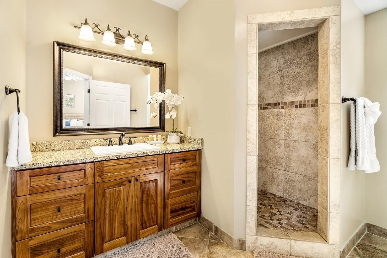 Downstairs master ensuite with walk in shower
