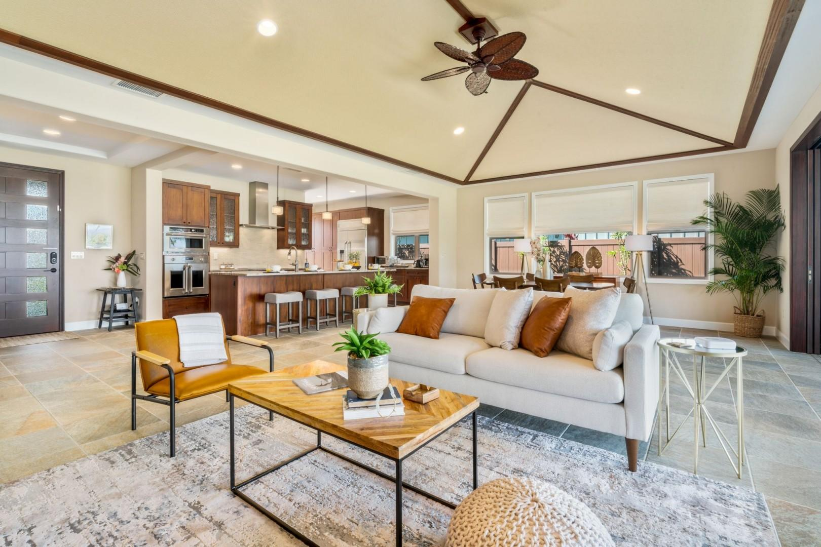 Open sight lines with vaulted ceiling make this property truly special
