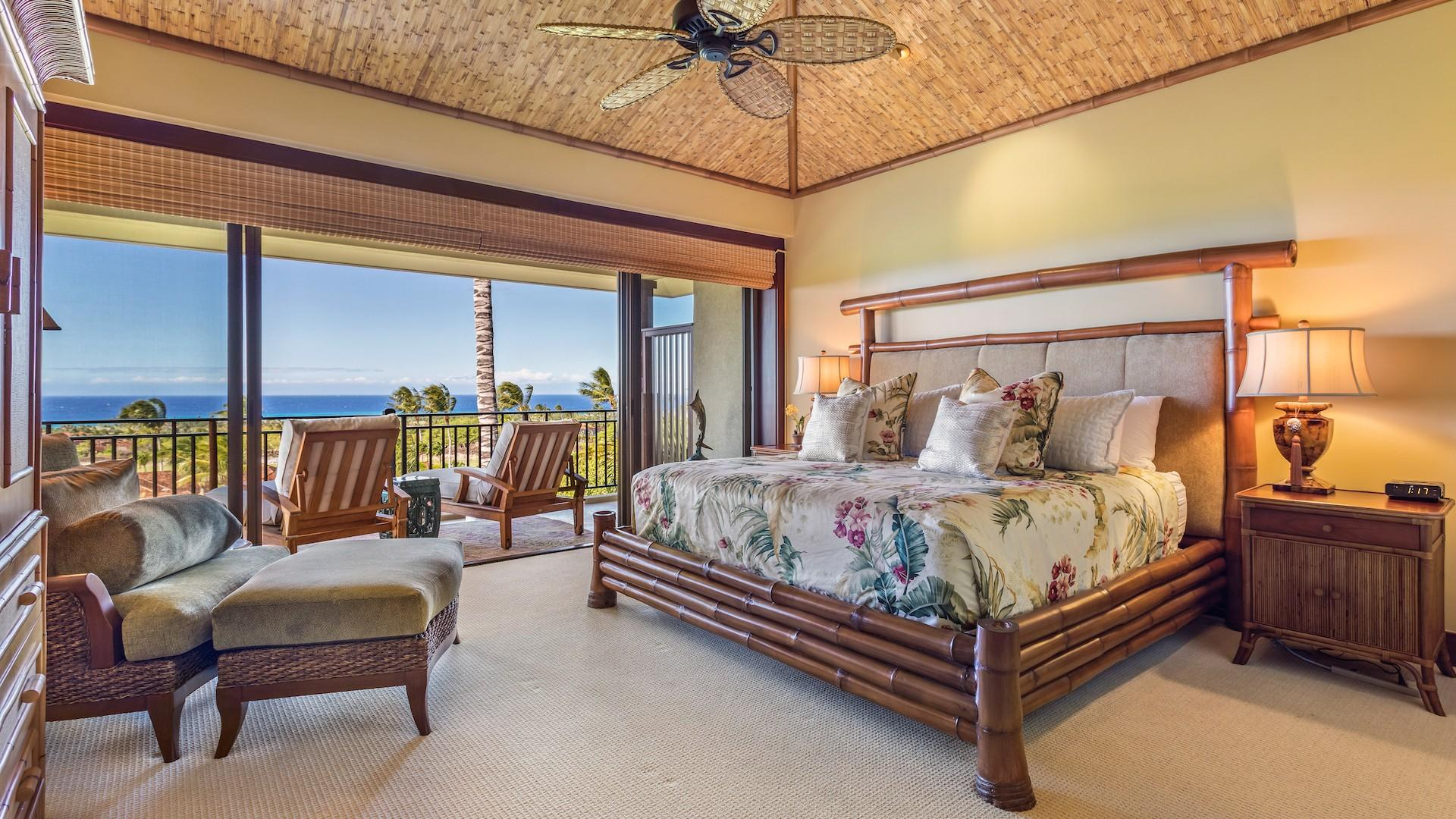 Master Bedroom Suite with King Bed, Private Lanai & Ensuite Bath.