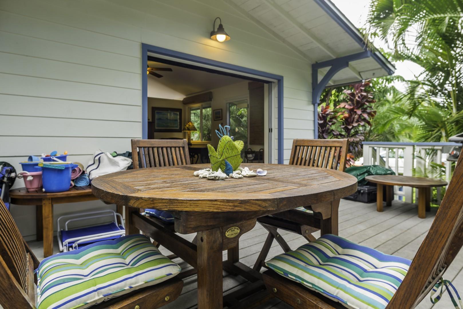 A true indoor/outdoor living experience.