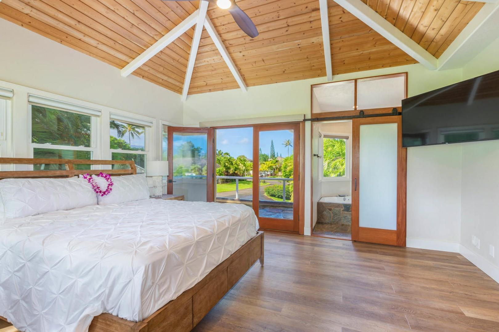 High ceilings and direct lanai access