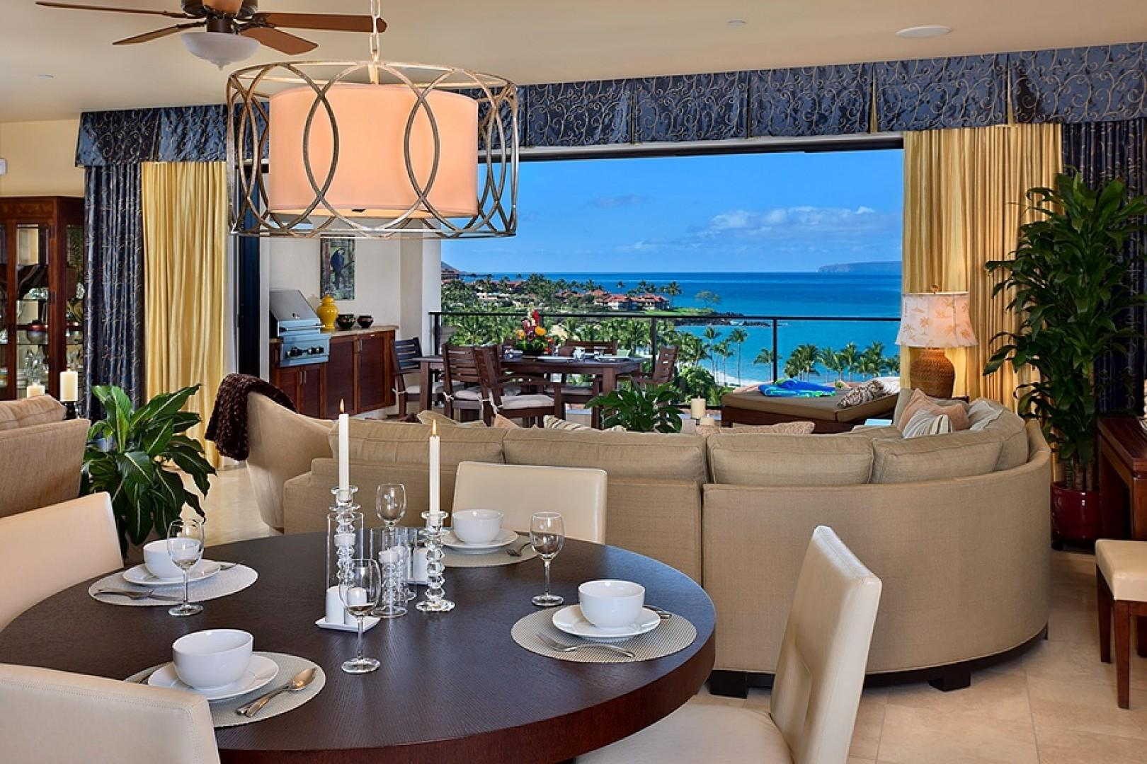 Sandy Surf K508 - Intimate Indoor Ocean View Dining - Chairs for up to 6 Guests Are Provided To Go Around the Table