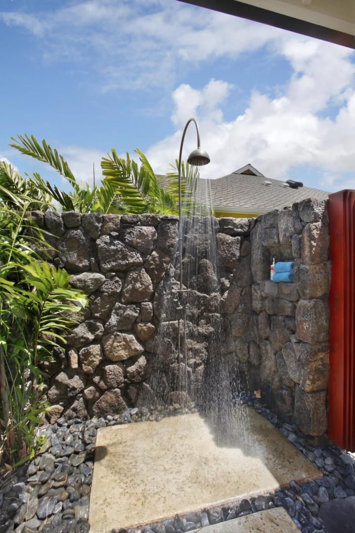 Master bedroom outdoor shower
