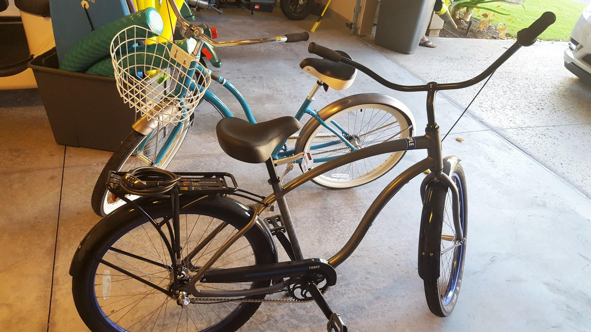 Beach cruisers for guest use