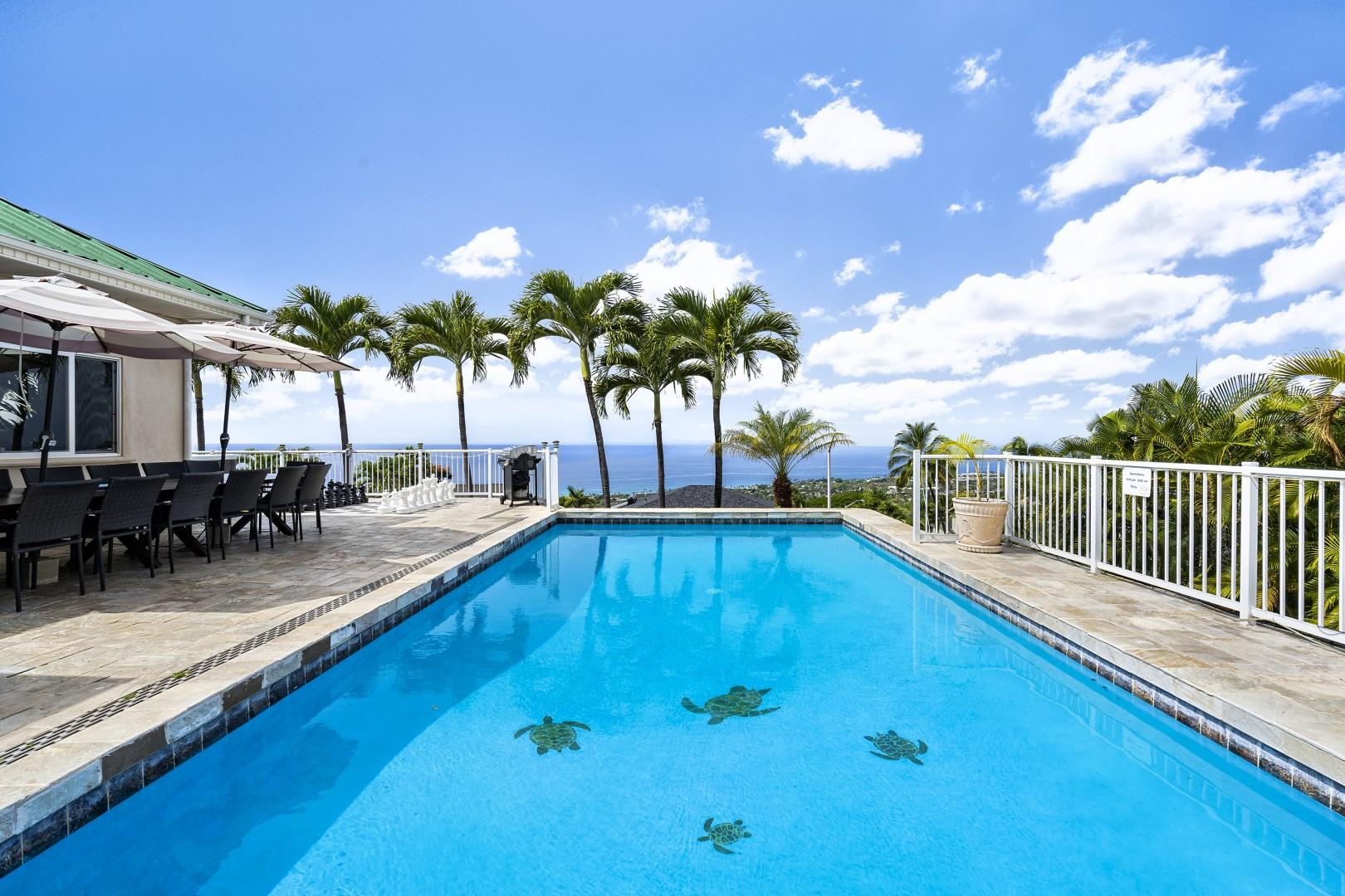 Take a dip in the pool with the ocean horizon as the back drop!