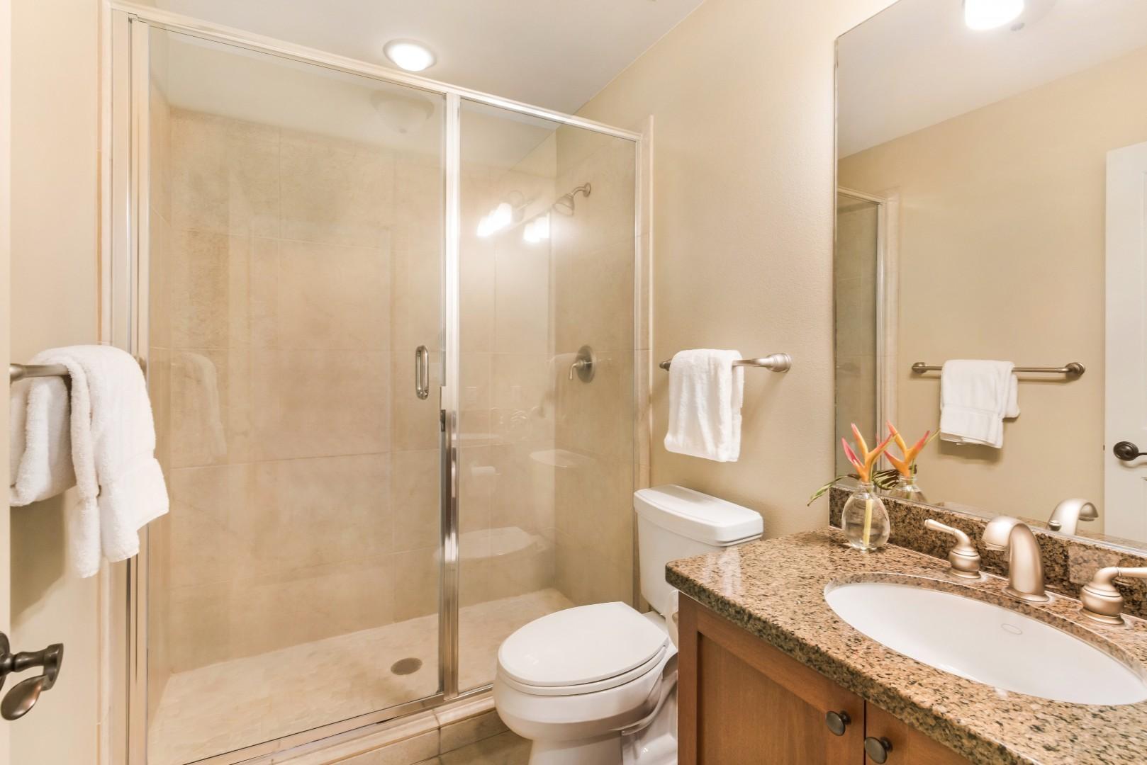Upstairs guest bathroom, adjacent to bedroom 2