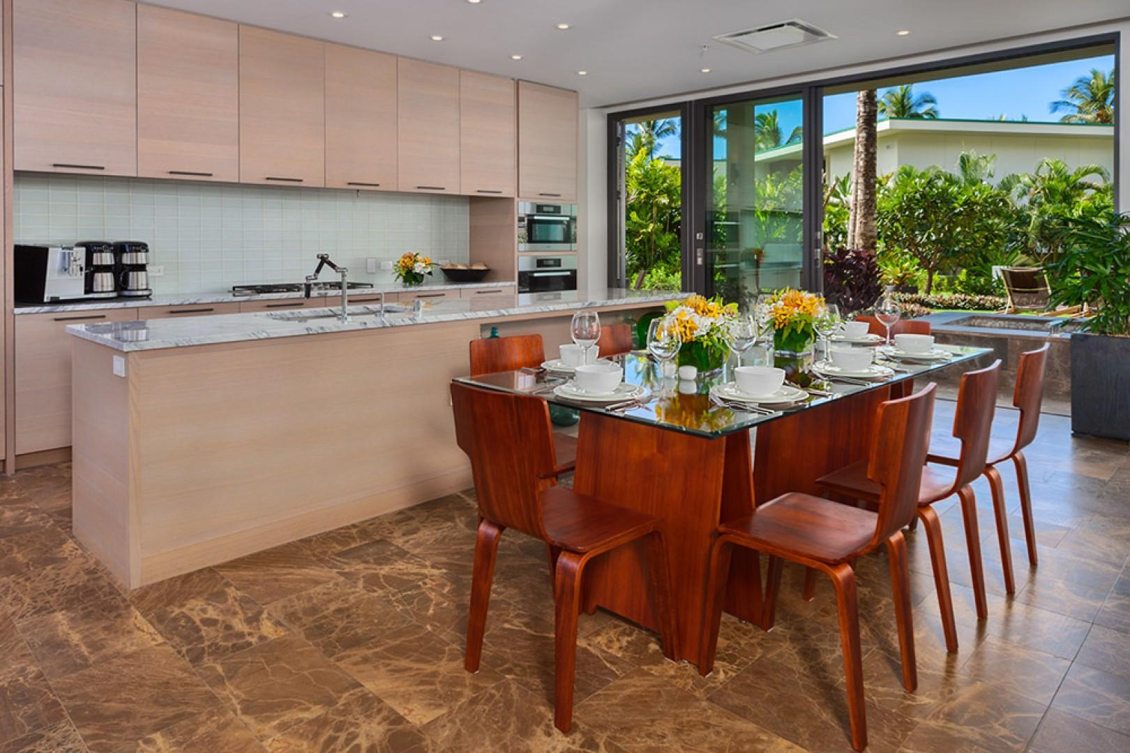 SeaGlass Villa 810 at Andaz Maui Wailea Resort - Create Maui Inspired Culinary Masterpieces in the Meile Equipped Gourmet Kitchen with Indoor Dining for Eight