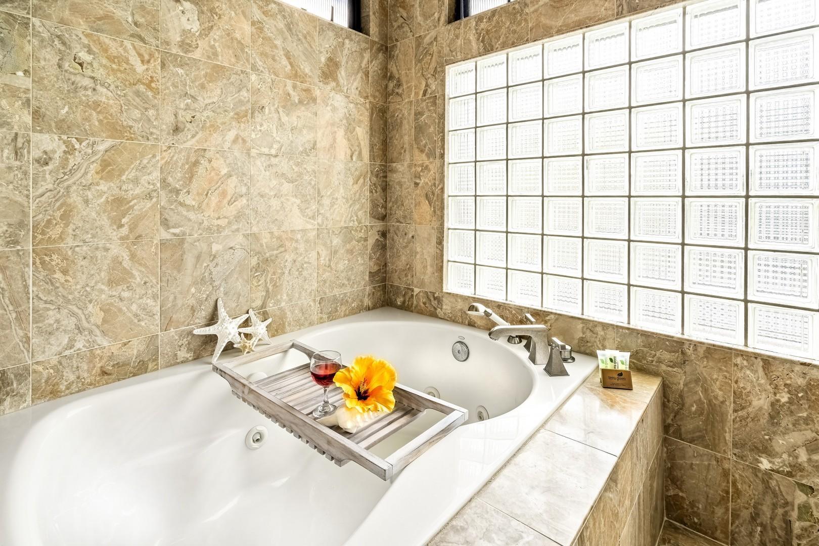 Large jacuzzi soaking tub