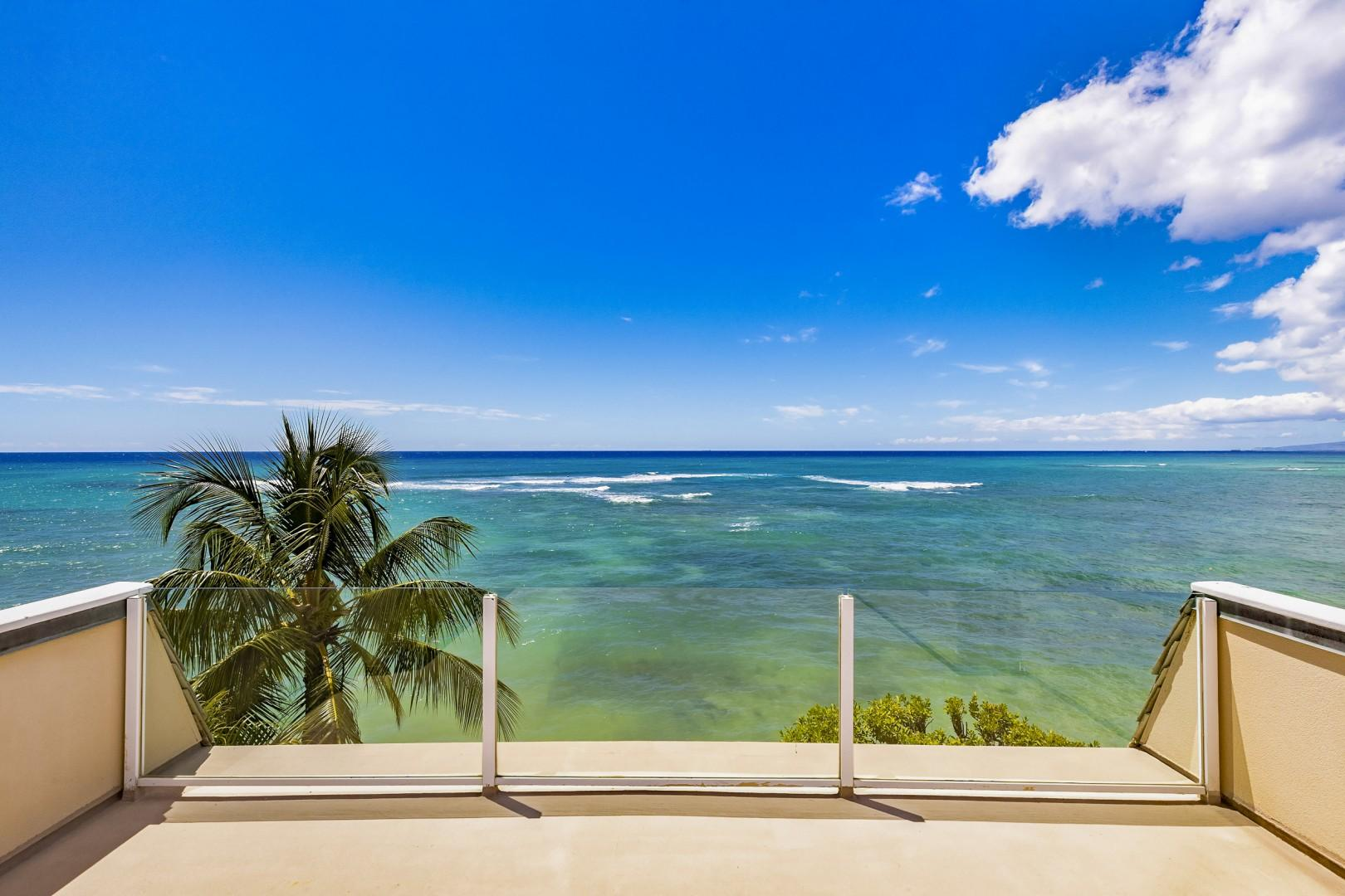 Oceanfront view from top of the home.