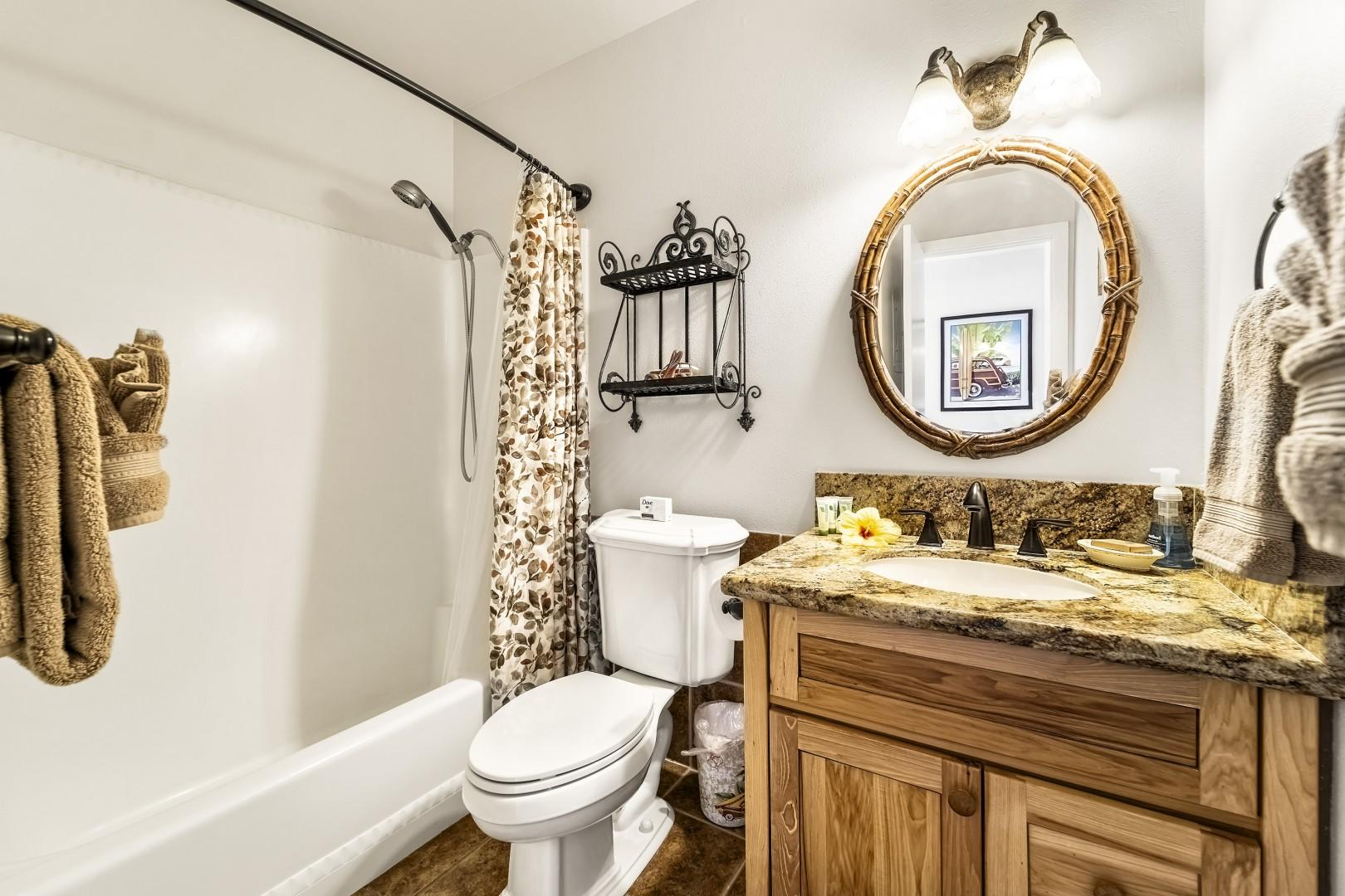 Upstairs full bath with tub/shower combo