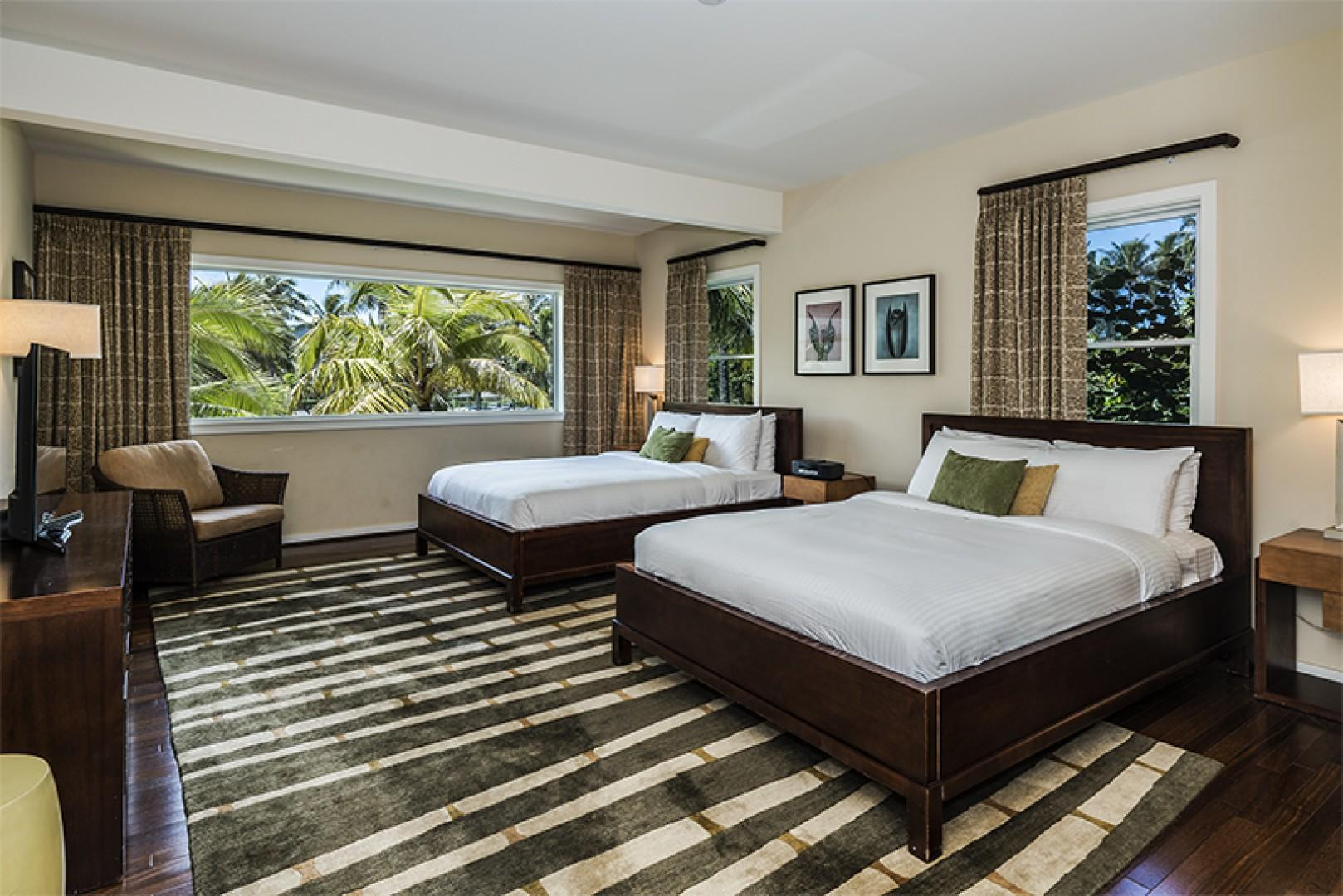 Extended Guest Bedroom contains 2 queen size beds