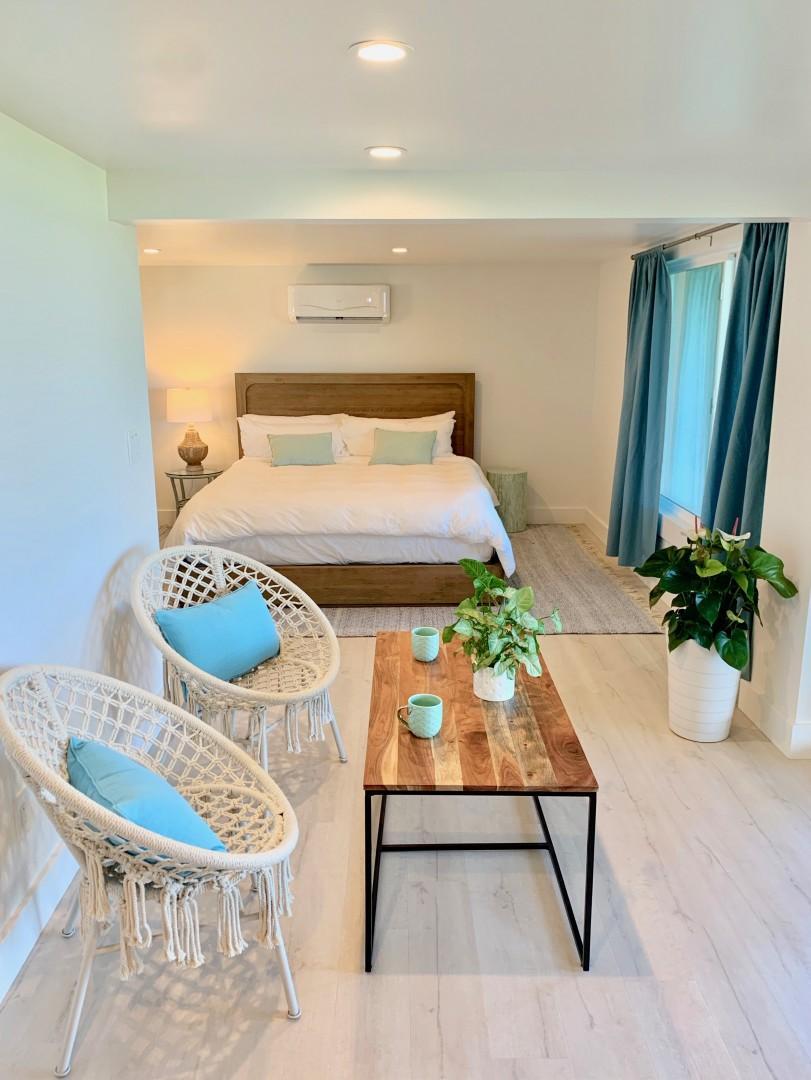 Downstairs studio bedroom