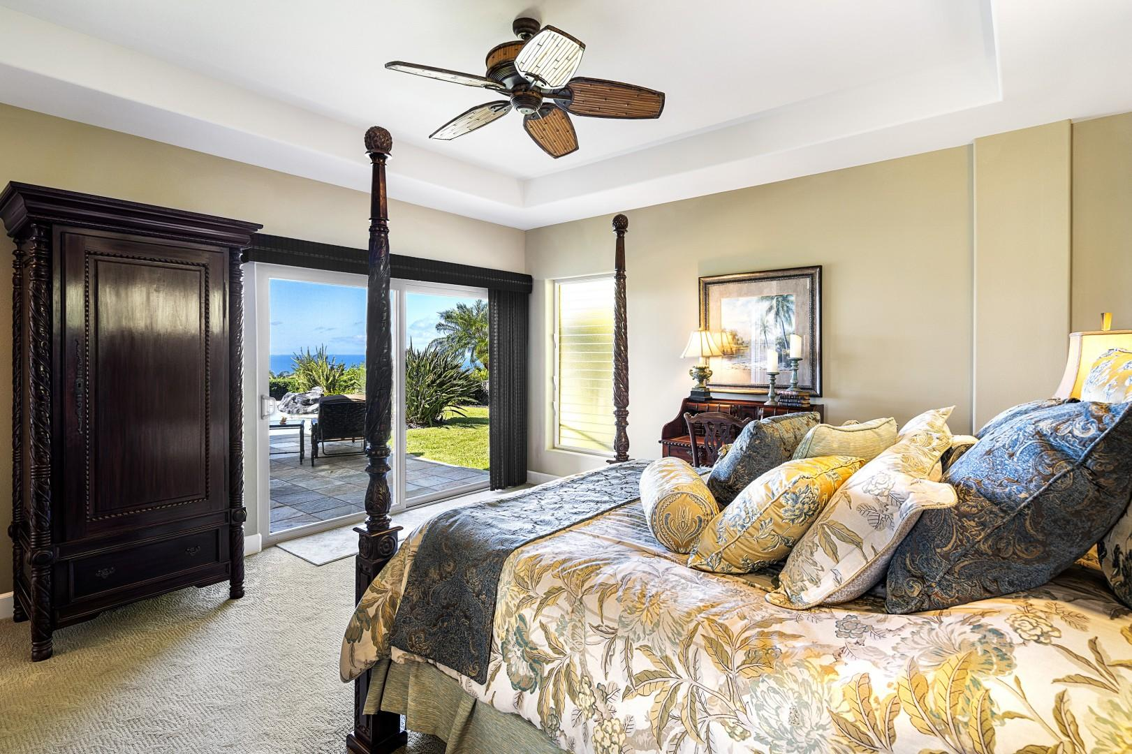 Walk right out to the pool from the Master bedroom!