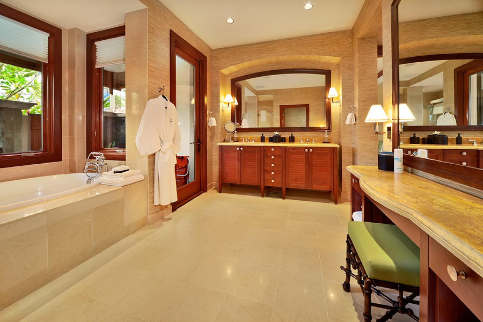 Private bath for second master bedroom.